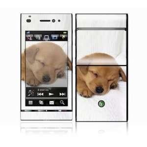 Sony Ericsson Satio Decal Skin   Animal Sleeping Puppy
