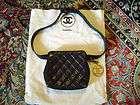 Authentic Vintage 1990s Chanel Black Quilted Leather Belt Bag EC
