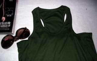 New Racerback Sleeveless Full Length Tank Long Maxi Dress 53