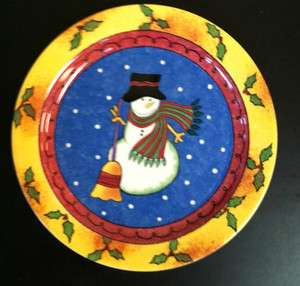 Snowman Plate [D] Sango Sweet Shoppe Christmas by Sue Zipkin   8