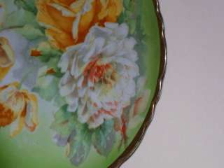 Royal Austria Hand Painted Roses Plate Artist Signed