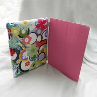 iPad 2 PU Leather Smart Cover + Hello Kitty Back Case