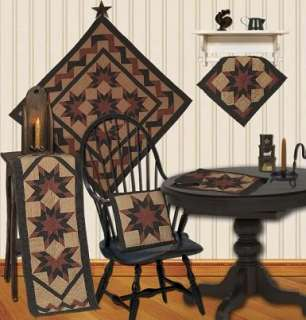 STAR GALORE TEA DYED QUILT TABLE RUNNER COUNTRY ACCENT