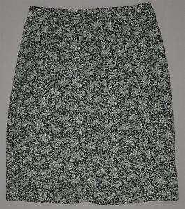 GAP Womens floral printed skirt w/ back slit 2