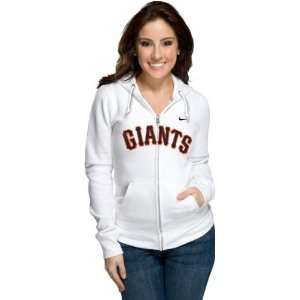 San Francisco Giants Womens Nike White Classic Full Zip