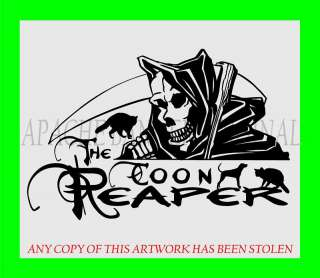 COON HUNTING DECAL Hound Dog LARGE SIZES Truck 3198CR