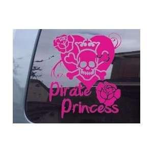 Pirate Princess Skull Girl Car Window Laptop Vinyl Decal Sticker  Pink