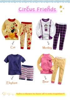 Toddler Kid Boys Sleepwear Pajama LOTSCircus Friends(12 24M)