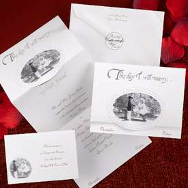 Day I Will Marry My Best Friend Z Fold Silver Foil Wedding Invitation