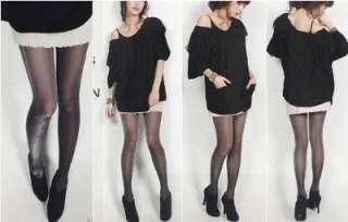 Black&silver Thread Sheer Tights pantyhose hos043