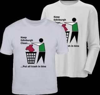 KEEP EDINBURGH CLEAN hibs football hibernian t shirt