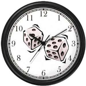 Craps or Pair of White Dice Gambling or Casino Theme Wall