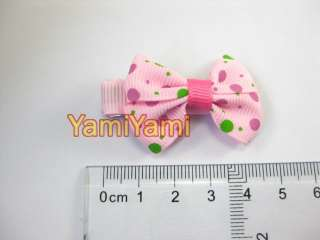 Yel dot Bowknot Girls Hair Clip Claw Barrette Pin Hold