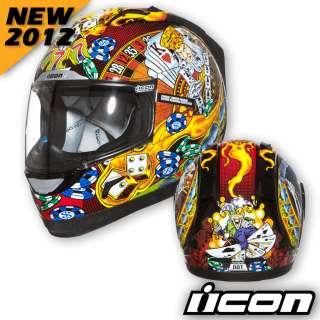 ICON NEW 2012 Alliance Lucky Lid Motorcycle Street Helmet Black 3XL