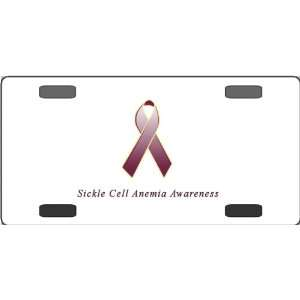 Sickle Cell Anemia Awareness Ribbon Vanity License Plate