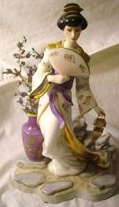 MICHIKO Franklin Mint Porcelain Geisha Figurine Princess of the Plum