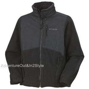 Columbia Sportswear Ballistic Boys Fleece Jacket 10 12 YOUTH BLACK
