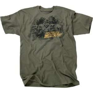 Moose Racing Meat God T Shirt   Medium/Military Green