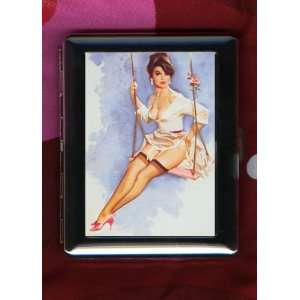 Fritz Willis Sexy Pinup Girl Vintage ID CIGARETTE CASE