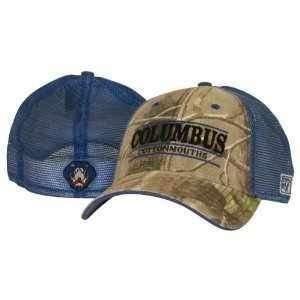 Columbus Cottonmouths Flex Fit Camouflage Mesh Hat Sports