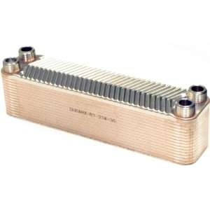 Plate 3/4 Male NPT Stainless Steel Copper Brazed Plate Heat Exchanger
