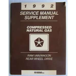 1992 Service Manual Supplement   Compressed Natural Gas   Ram Van