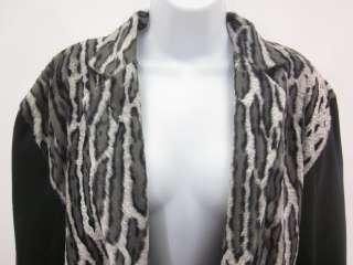 CRISCIONE SPORT Black Animal Print Jacket Skirt Set M