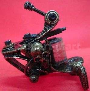 Custom Pro Copper 10 Wrap Coils Tattoo Machine Gun For Kit Power