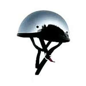 Skid Lid Chrome Original Half Helmet XL for Harley Davidson & Custom