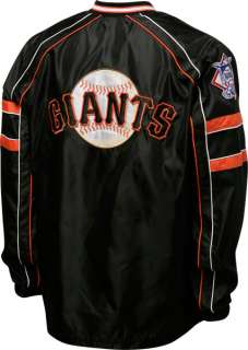 San Francisco Giants Black V Neck Pullover Jacket