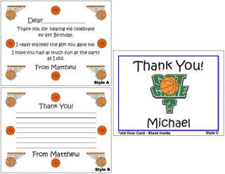 Kid Adult Birthday Party Personalized Thank You Note Cards