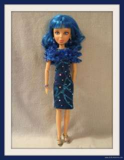 HANDMADE Custom Clothes 5pc Fashion DRESS + JEWELRY + STOLE 4 LIV DOLL