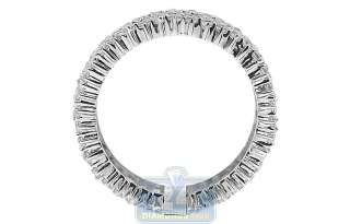 NEW 925 Sterling Silver White Round Cut Crystal CZ Womens Fashion Band
