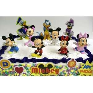 Mickey Mouse and Minnie Mouse Babies 14 Piece Birthday Cake Topper