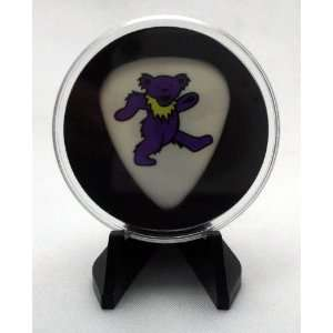 Grateful Dead Purple Dancing Bear Guitar Pick With MADE IN USA Display