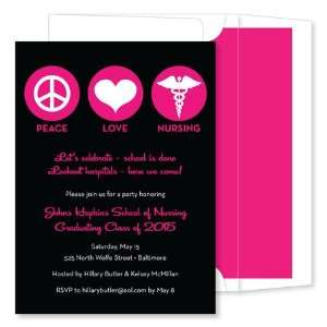 Noteworthy Collections   Invitations (Peace * Love * Nursing Black
