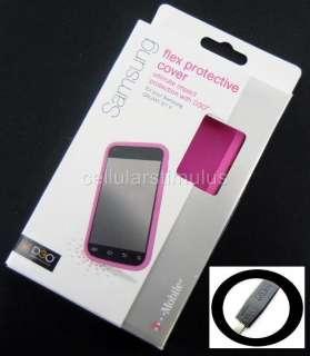 OEM T Mobile D3O Pink Flex Hard Gel Case Samsung Galaxy S II T989