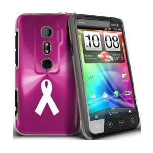 Plated Hard Back Case Breast Cancer Ribbon: Cell Phones & Accessories