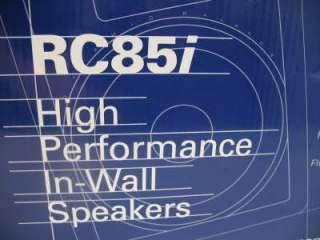POLK AUDIO RC85I 8 2 WAY IN WALL SPEAKERS PAIR ★NEW★