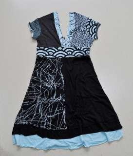 Fashion Desigual Women Runway BLUE Dress SIZE M L