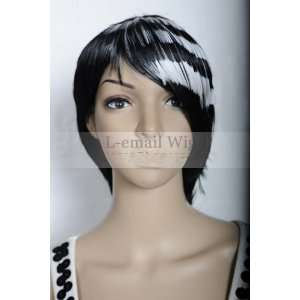 30cm Soul Eater Death the KID White&black Party Wig Ml67
