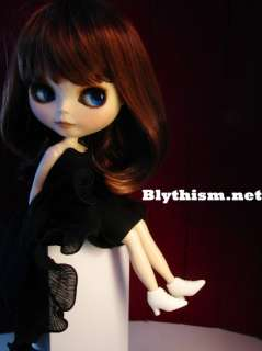 Blythism Black Ruffles Party Dress fit Blythe D090b(F)