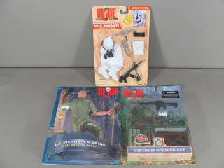 Lot of 8 G.I. Joe Action Figures and Accessories