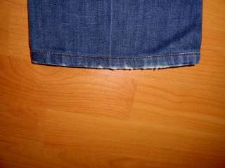 JOES JEANS ROCKER LOW RISE BOOT CUT REAR FLAP PKTS THICK STITCH 28 x