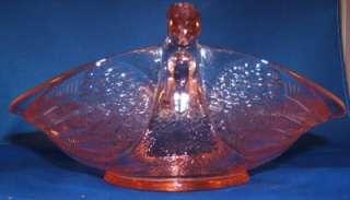 Pink Depression Double Swan Bowl Diamond Glassware Co.