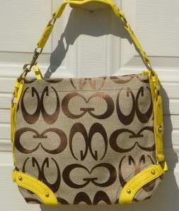 Designer Inspired Canvas Logo Handbag Purse Celebrity Hobo Tote Bag