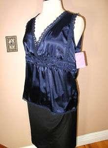 Marina Rinaldi Max Mara Blue Silk Lace Blouse MR21,MR23