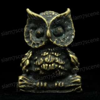 Vintage brass owl bird charm Statue Figurine Detailed