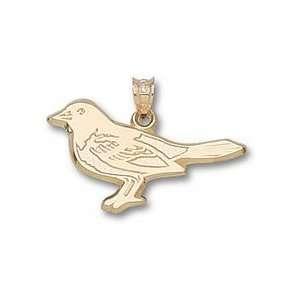 Baltimore Orioles Bird 5/8 Lapel Pin   14KT Gold