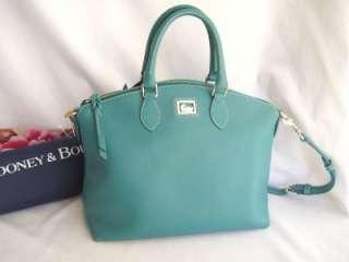 New DOONEY & BOURKE Dillen 2 Aqua Seafoam Leather Satchel Shoulder Bag